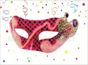 Máscara de Carnaval Rosa