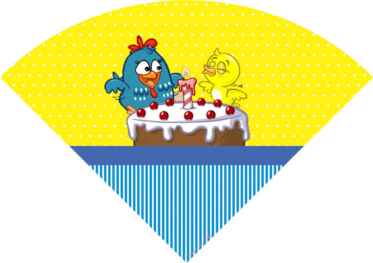 decoracao galinha pintadinha azul e amarelo: completa para festa divirtam se e só baixar imprimir e recortar