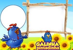 Moldura Galinha Pintadinh98