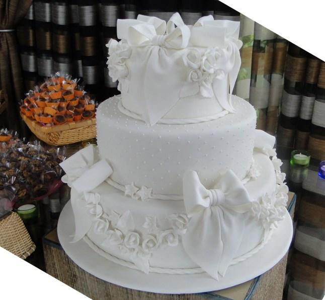 bolo branco para casamento 1
