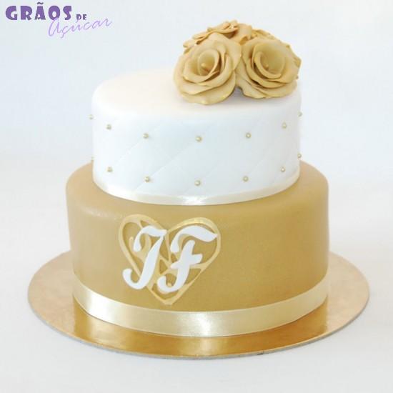 bolo casamento dourado02