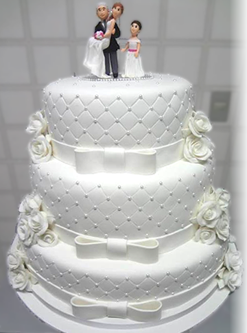 bolo de noiva e casamento