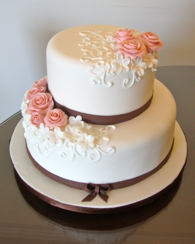 bolos decorados de casamento de 2 andares 5