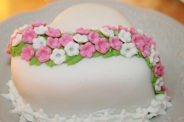 Mini bolo coração