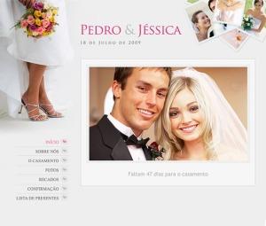 site dos noivos