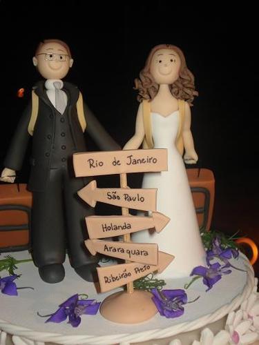 bonequinhos para bolo de casamento 9