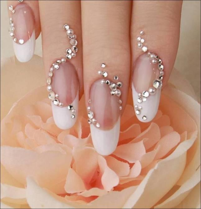 Unhas-decoradas-para-noivas-strass