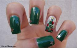 nail art árvore de natal